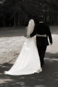 Bride _amp_ Groom from Back