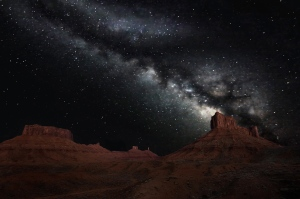 Milky Way over Castle Valley Utah