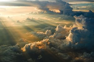 light shining down